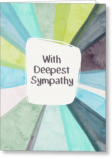 Loss Greeting Card featuring the mixed media With Deepest Sympathy- Art By Linda Woods by Linda Woods