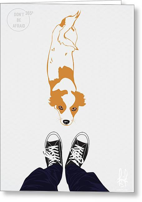 Dogs Digital Greeting Cards - With Dog Greeting Card by Alberth Fritz Ambesa
