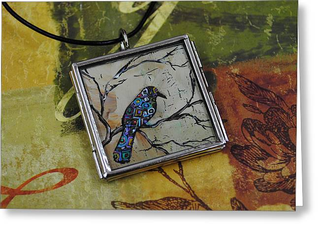 Miniature Jewelry Greeting Cards - With In Greeting Card by Dana Marie