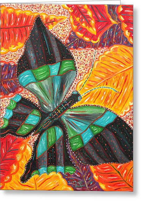 Cuban Artist Greeting Cards - With Peace Comes Healing Greeting Card by Michele Tuohey