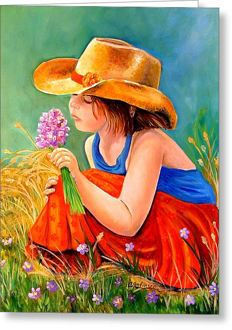 Prairies Greeting Cards - With These Hands--Wonder Greeting Card by Carol Allen Anfinsen