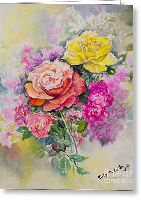 Best Friend Greeting Cards - Gathering Flowers From The Garden Greeting Card by Kirby McCarley