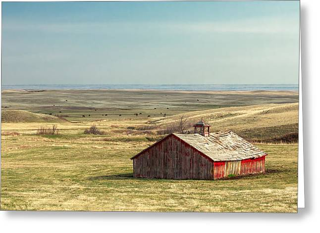 Withering Barn Greeting Card by Todd Klassy