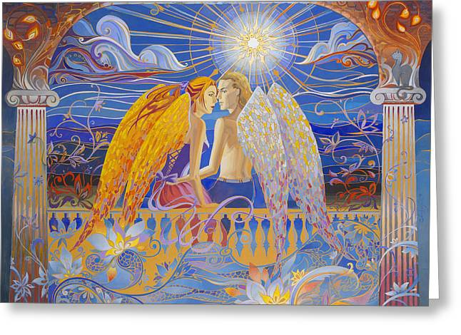 Angel Blues Greeting Cards - Without any words Greeting Card by Tetiana Samoilenko