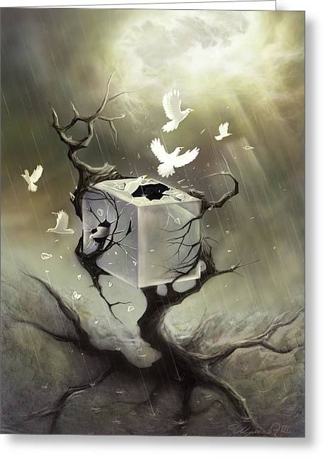 Puddle Digital Art Greeting Cards - Without Walls Greeting Card by Ulysses Albert III