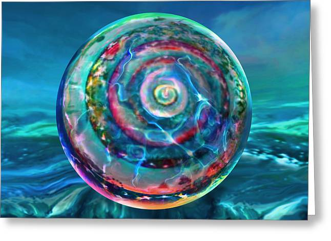 Withstanding Orby Weather Greeting Card by Robin Moline