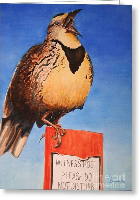 Sokolovich Paintings Greeting Cards - Witness Greeting Card by Ann Sokolovich