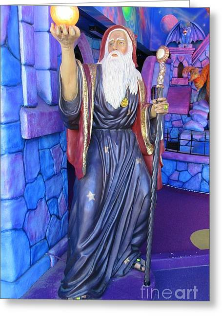 Fantasy Sculptures Greeting Cards - Wizard at Niagara Falls Greeting Card by John Malone