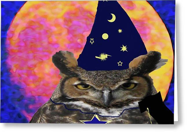 Photos Of Birds Mixed Media Greeting Cards - Wizard  Greeting Card by Debra     Vatalaro