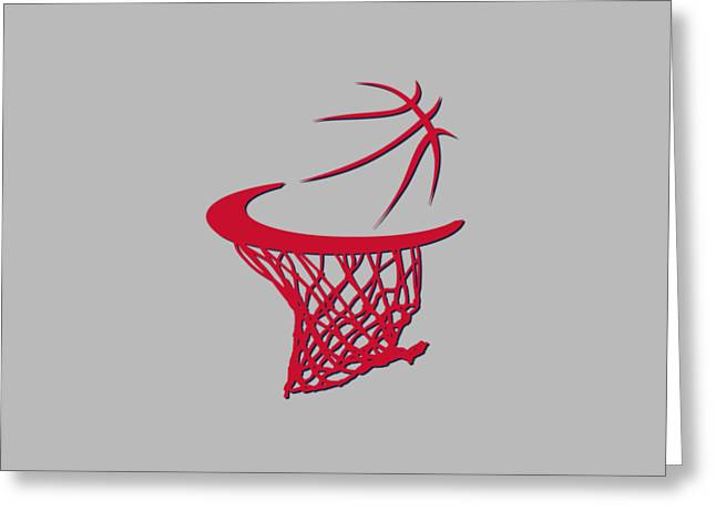 T Shirts Greeting Cards - Wizards Basketball Hoop Greeting Card by Joe Hamilton