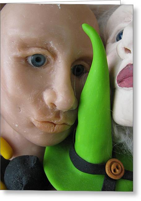 Clay Sculpture Greeting Cards - Wizards Day Off Greeting Card by Lindie Racz