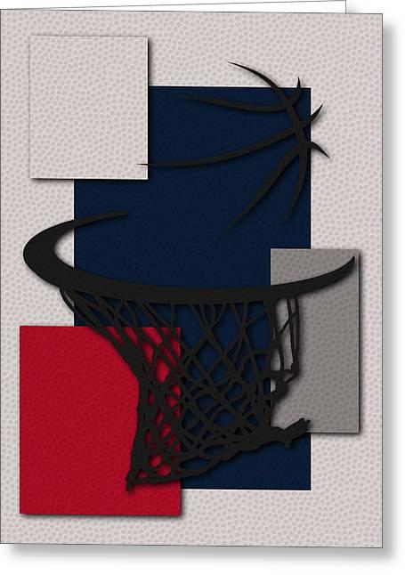 Basket Ball Greeting Cards - Wizards Hoop Greeting Card by Joe Hamilton