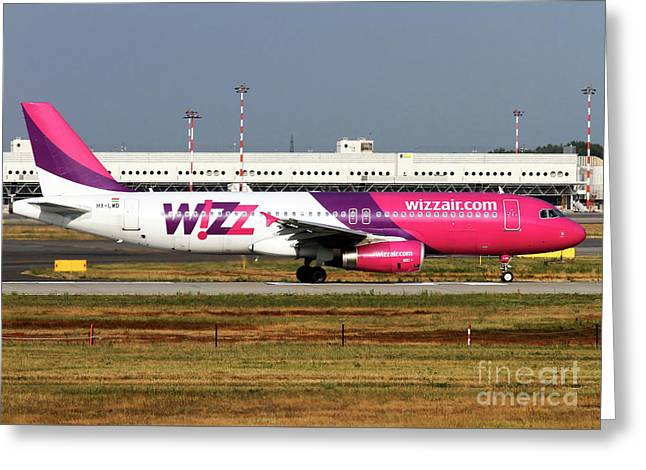 Wizz Air Airbus A320-232 Greeting Card by Amos Dor