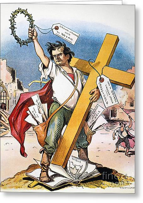 Nomination Greeting Cards - W.j. Bryan: Cross Of Gold Greeting Card by Granger