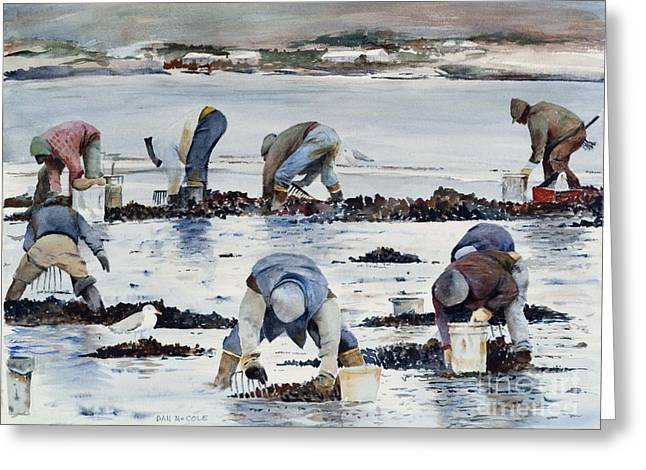 Wnter Clam Diggers Greeting Card by Dan McCole
