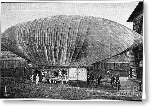Deutschland Greeting Cards - Woelferts Airship, 19th Century Greeting Card by Spl