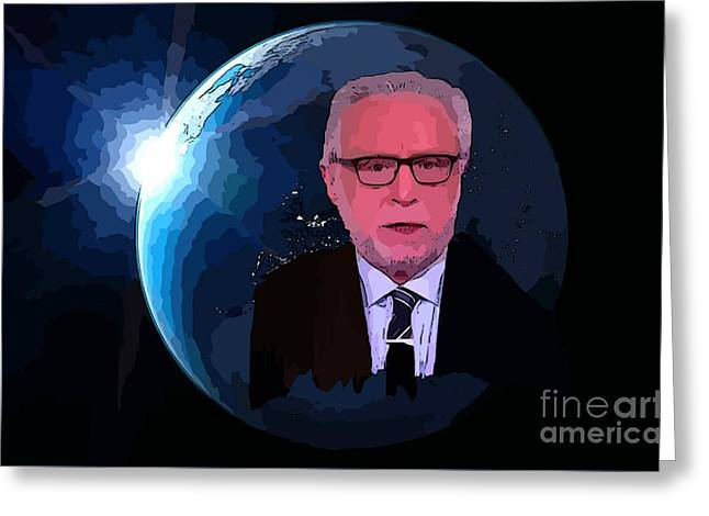 Wolf Blitzer  Greeting Card by John Malone