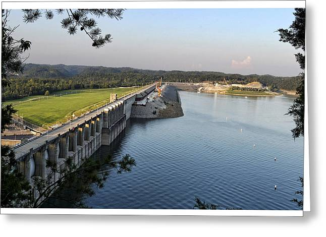 Wolf Creek Dam Greeting Card by Amber Flowers