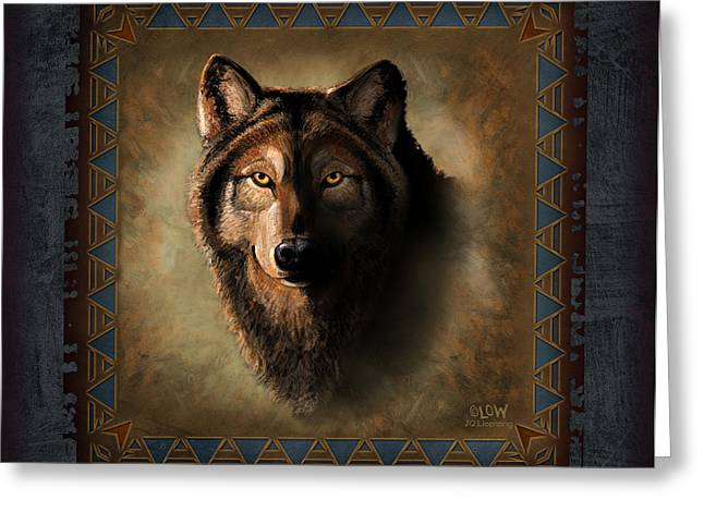 Wolf Lodge Greeting Card by JQ Licensing