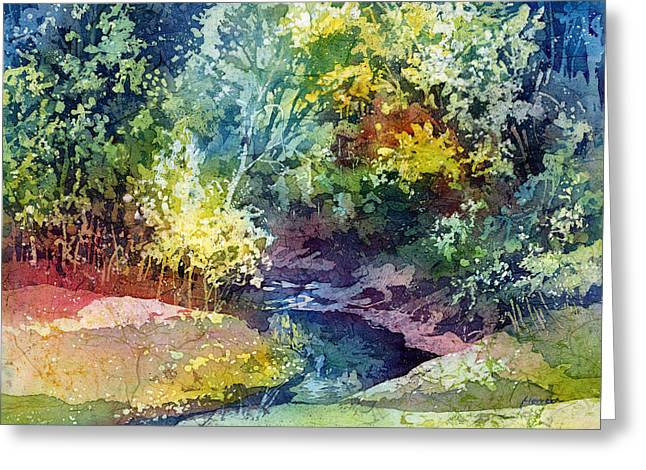 Wolf Creek Greeting Cards - Wolf Pen Creek Greeting Card by Hailey E Herrera