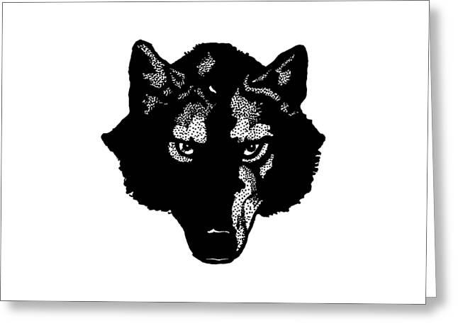 Wolf Tee Greeting Card by Edward Fielding