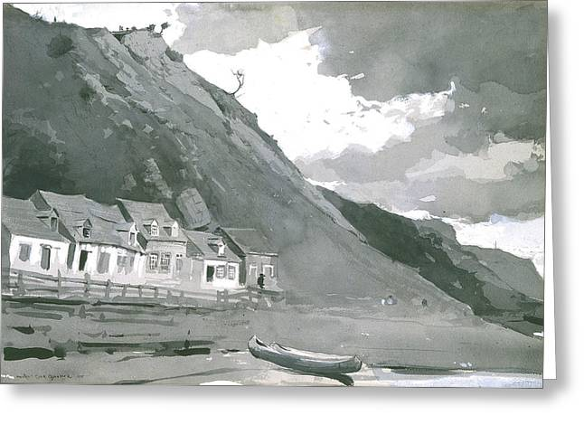 Wolfe's Cove Quebec Greeting Card by Winslow Homer