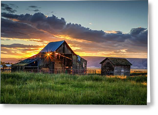 Wolff Barn Greeting Card by Brad Stinson