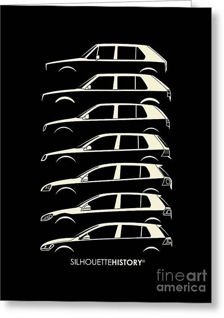 Wolfsburger Hatch Five Silhouettehistory Greeting Card by Gabor Vida