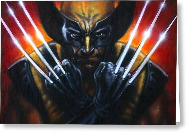 Wolverine Greeting Cards - Wolverine Greeting Card by Tim  Scoggins