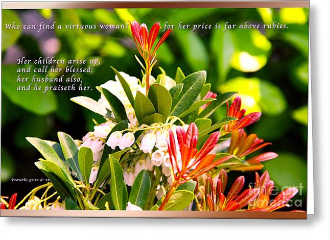 Woman Arise Greeting Card by Terry Wallace