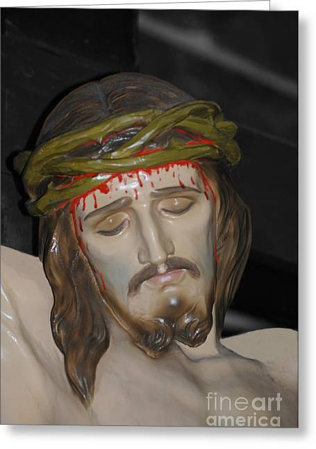 Pontius Pilate Greeting Cards - Woman behold thy son Greeting Card by Gordon Palmer