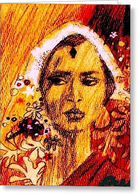 Woman From India Greeting Card by Ocean