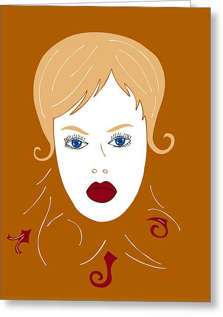Modeling Greeting Cards - Woman in Fashion Greeting Card by Frank Tschakert