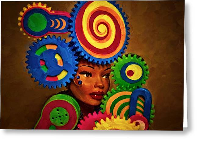 Woman Of Colors  Greeting Card by Jeff  Gettis