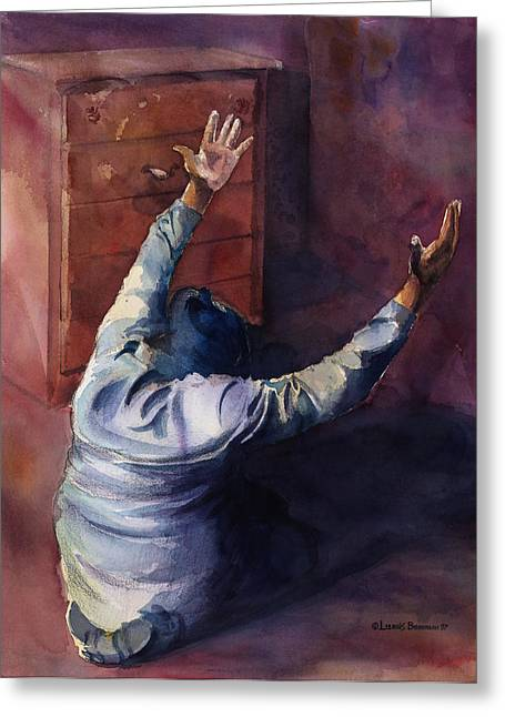 Christian Greeting Cards - Woman Of Praise Greeting Card by Lewis Bowman