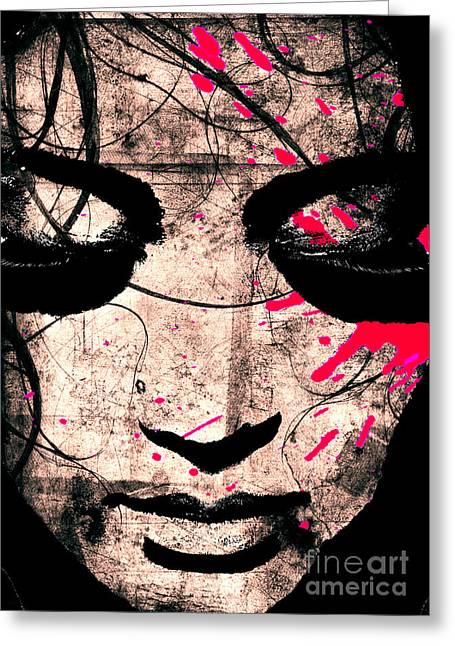 Therapy Digital Art Greeting Cards - Woman Greeting Card by Ramneek Narang