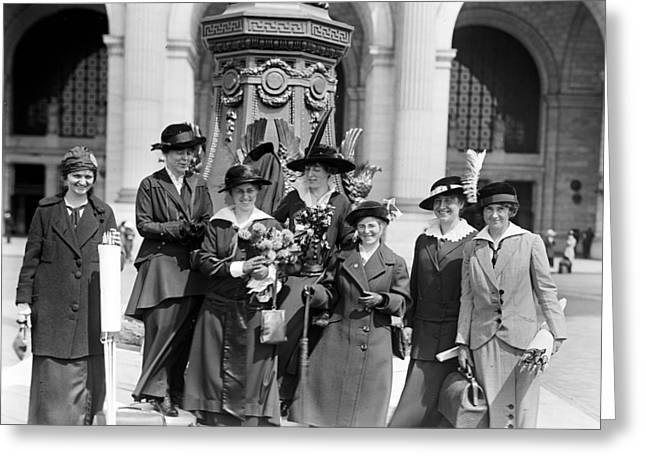 Women Suffrage Greeting Cards - Woman Suffrage - Political Campaign Rose Winslow - Lucy Burns - Doris Stevens - Ruth Astor Noyes etc Greeting Card by International  Images
