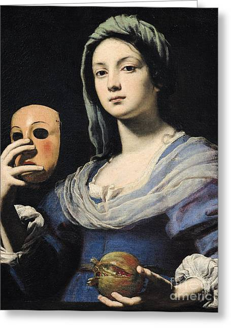 Disguise Greeting Cards - Woman with a Mask Greeting Card by Lorenzo Lippi