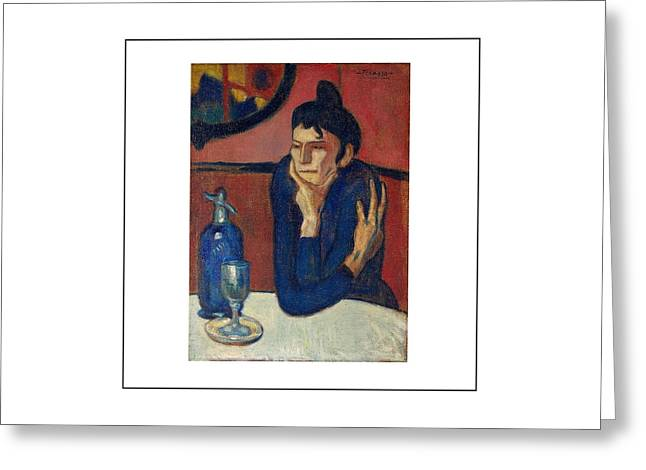 Pablo Picasso Paintings Greeting Cards - Woman with coffee Femme au cafe Greeting Card by Movie Poster Prints