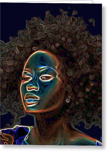 Taught Greeting Cards - Womans Essence III  Greeting Card by  Fli Art