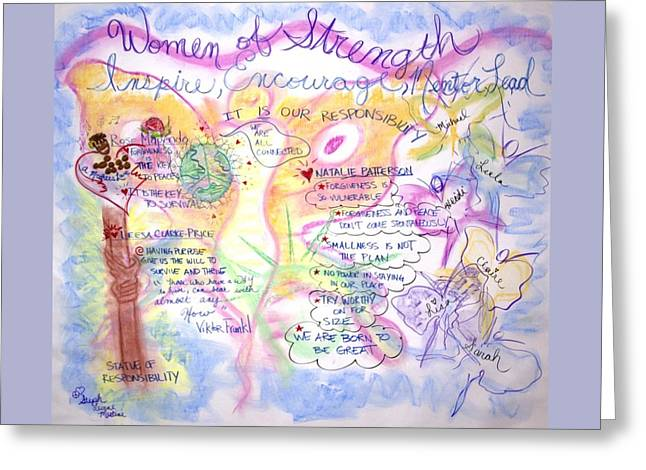 Empowerment Greeting Cards - Women of Strength Greeting Card by Steph levine Martini
