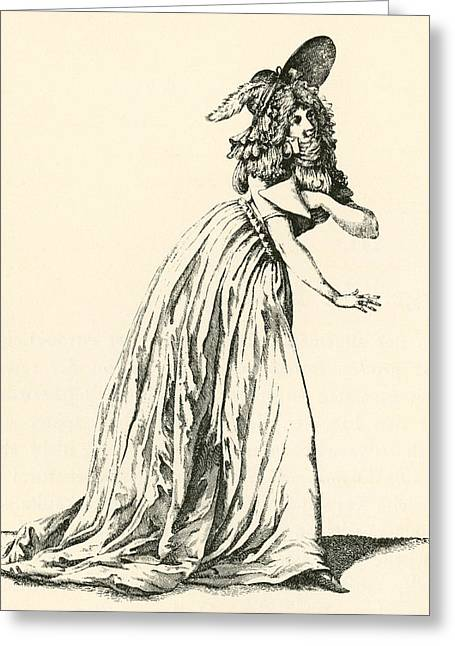Women. Eighteenth Century Greeting Cards - Women S Fashion During The French Greeting Card by Ken Welsh