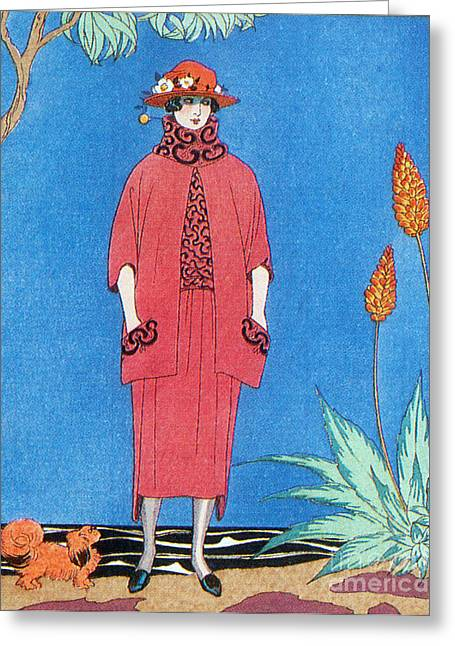 Apparel Greeting Cards - Womens Fashion, George Barbier, 1921 Greeting Card by Science Source