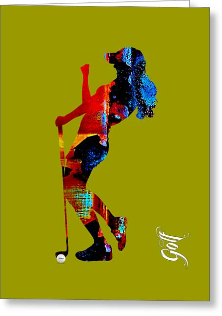 Recreation Greeting Cards - Womens Golf Collection Greeting Card by Marvin Blaine