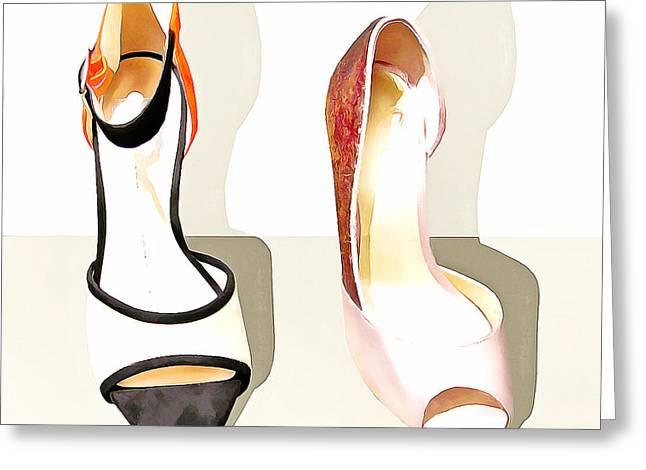 Womens High Heel Stiletto Shoes 20160227 Square V1 Greeting Card by Wingsdomain Art and Photography