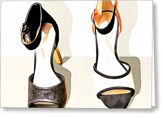Womens High Heel Stiletto Shoes 20160227 Square V2 Greeting Card by Wingsdomain Art and Photography