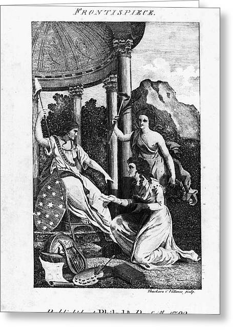 Magazine Pages Greeting Cards - Womens Rights, 1792 Greeting Card by Granger