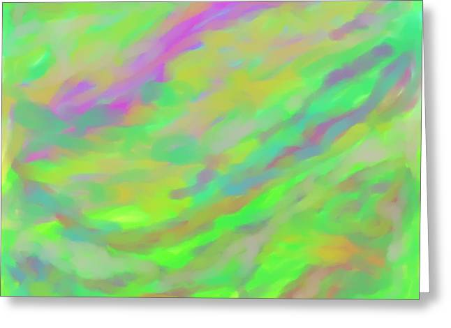 Abstract Expression Greeting Cards - Wonder Greeting Card by Dotti Hannum