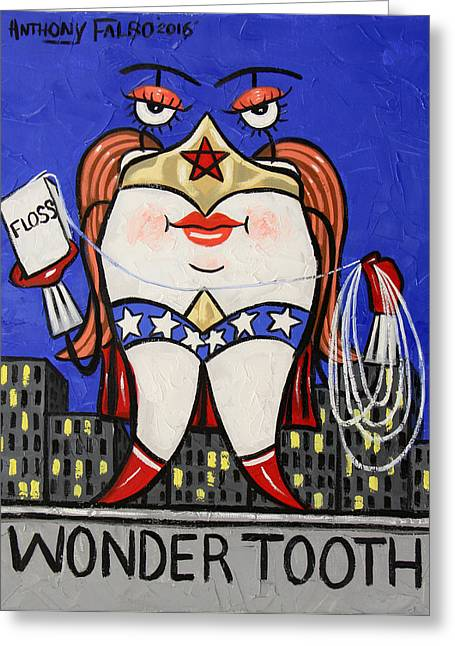 Wonder Tooth Greeting Card by Anthony Falbo