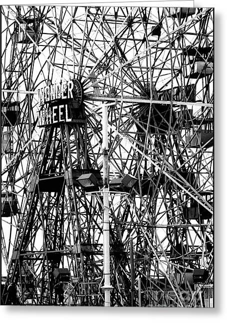 Wonder Wheel Coney Island Greeting Card by Jeff Breiman